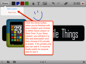 Educreations done text