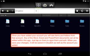 CloudOn documents view