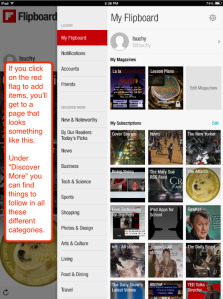 Flipboard flag page