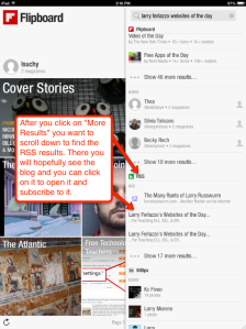 Flipboard RSS feeds