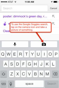 Google search goggles icon