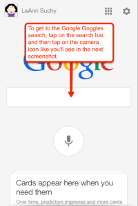 Google search goggles info