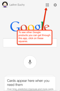 Google search square info
