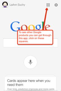 Google search square info