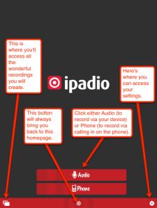 ipadio homepage explained
