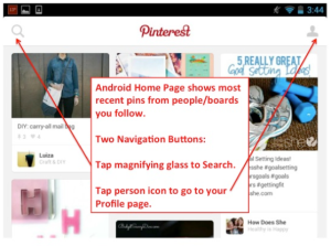 pinterest android home