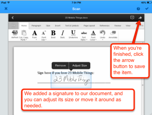 SignNow move signature 2