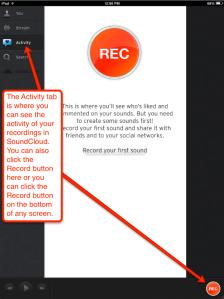 SoundCloud recording button