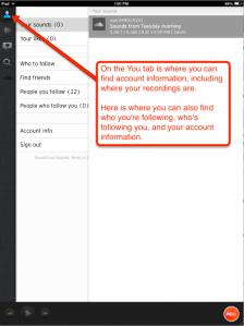 SoundCloud you tab info