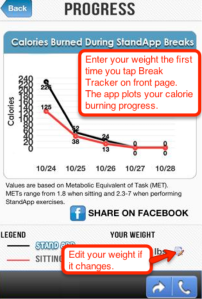 standapp weight